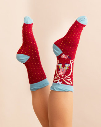 1339A466 DBAA 4A3B 8915 10972324EDD1 - Powder Bamboo Alphabet Initial socks A