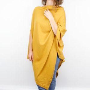 3A1D8089 C589 4041 B9D1 27BBB8288A82 300x300 - Mustard Fine Knit Cotton Poncho