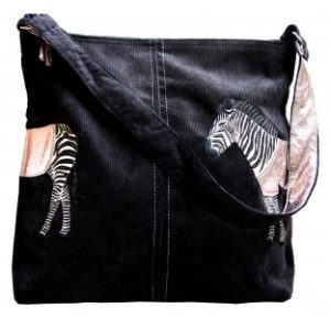 3C06F01F D724 4BF8 A3A0 4D9CE5EE1603 300x300 - Lua Design Zebra Appliqué Shoulder Bag In Black
