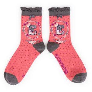 3DDDC25F CE24 4060 A31A A6445CA179A1 300x300 - Powder Bamboo Alphabet Initial socks E