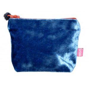 410D601F CC20 4DBF 82A0 9B256827DD62 300x300 - Lua Design Velvet Coin Purse Cobalt Blue