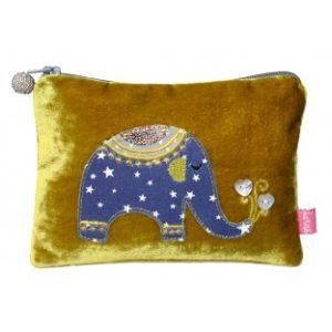 41B3A364 BDB5 463E 9947 6B22A3C2C038 300x300 - Lua Design Elephant Appliqué Velvet Coin Purse Mustard