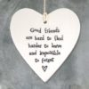 588035B0 7234 4185 92BB 655C9D65CC83 100x100 - East of India Round Hanging Heart - Good Friends Are Hard To Find