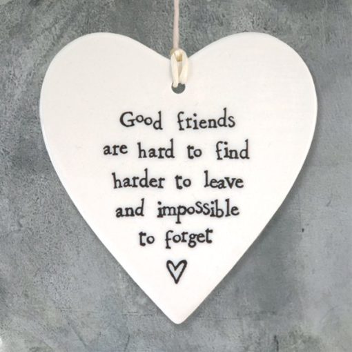 588035B0 7234 4185 92BB 655C9D65CC83 510x510 - East of India Round Hanging Heart - Good Friends Are Hard To Find