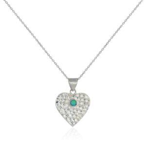 643165B7 4FCB 4B03 8CE0 91EA5DE67EDA 300x300 - Hammered Solid Silver Opal Heart Pendant Necklace
