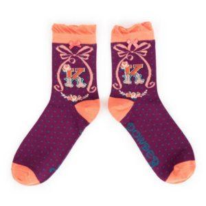 687E6FC5 ABE9 4A83 9D1D BE0B7E3B23C2 300x300 - Powder Bamboo Alphabet Initial socks K
