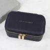 6E779136 C3C3 41EC 90D6 E8491A309CD0 100x100 - Navy 'Live as you dream' Travel Jewellery Box
