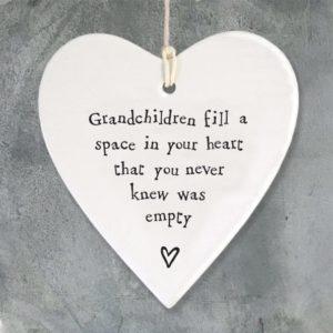 718702FB B6CD 41DC B68E A390014FDE3C 300x300 - East of India Round Hanging Heart - Grandchildren Fill A Space In Your Heart.