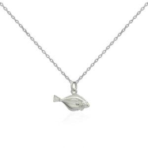 7CF39A60 46BE 4708 BBDA DFC8891B686C 300x300 - Solid Silver Flat Fish Pendant Necklace