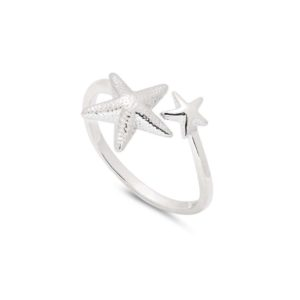 816E8374 33B6 486A BC65 17C44777F986 300x300 - Solid Silver Adjustable Starfish Ring