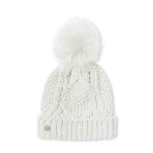 940905CC A291 4B38 9E09 5C48C79B2C92 300x300 - Katie Loxton White Cable Knit Hat