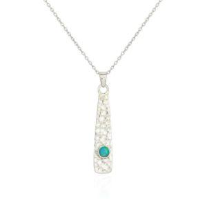 C16D9D7C 1ECA 4A7B ACC5 E95FE12CE7AC 300x300 - Hammered Solid Silver Opal Pendant Necklace