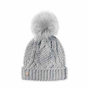 C71E0008 5C2D 4D8F 970A FF39AD9E86A3 300x300 - Katie Loxton Grey Cable Knit Hat