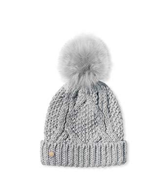 C71E0008 5C2D 4D8F 970A FF39AD9E86A3 - Katie Loxton Grey Cable Knit Hat