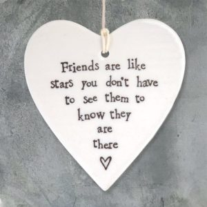 CA7283AF F15F 4D10 B3CE DA598EE110FC 300x300 - East of India Round Hanging Heart - Friends Are Like Stars