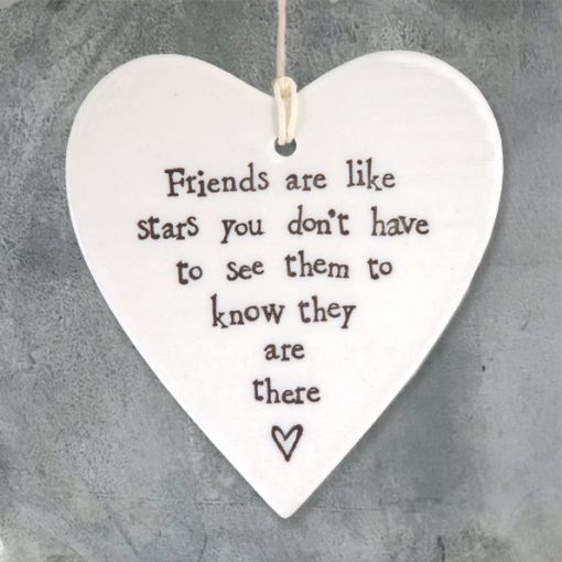 CA7283AF F15F 4D10 B3CE DA598EE110FC 510x510 - East of India Round Hanging Heart - Friends Are Like Stars