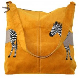 CBD64EDA 1A5A 4128 BF11 3EC7BEDB0D89 300x300 - Lua Design Zebra Appliqué Shoulder Bag In Mustard