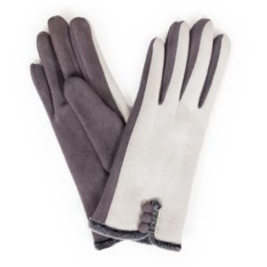 FB7D71B7 7723 4146 A607 D5FC5AE17EA9 300x300 - Powder Amanda Faux Suede Gloves in Charcoal/ Slate