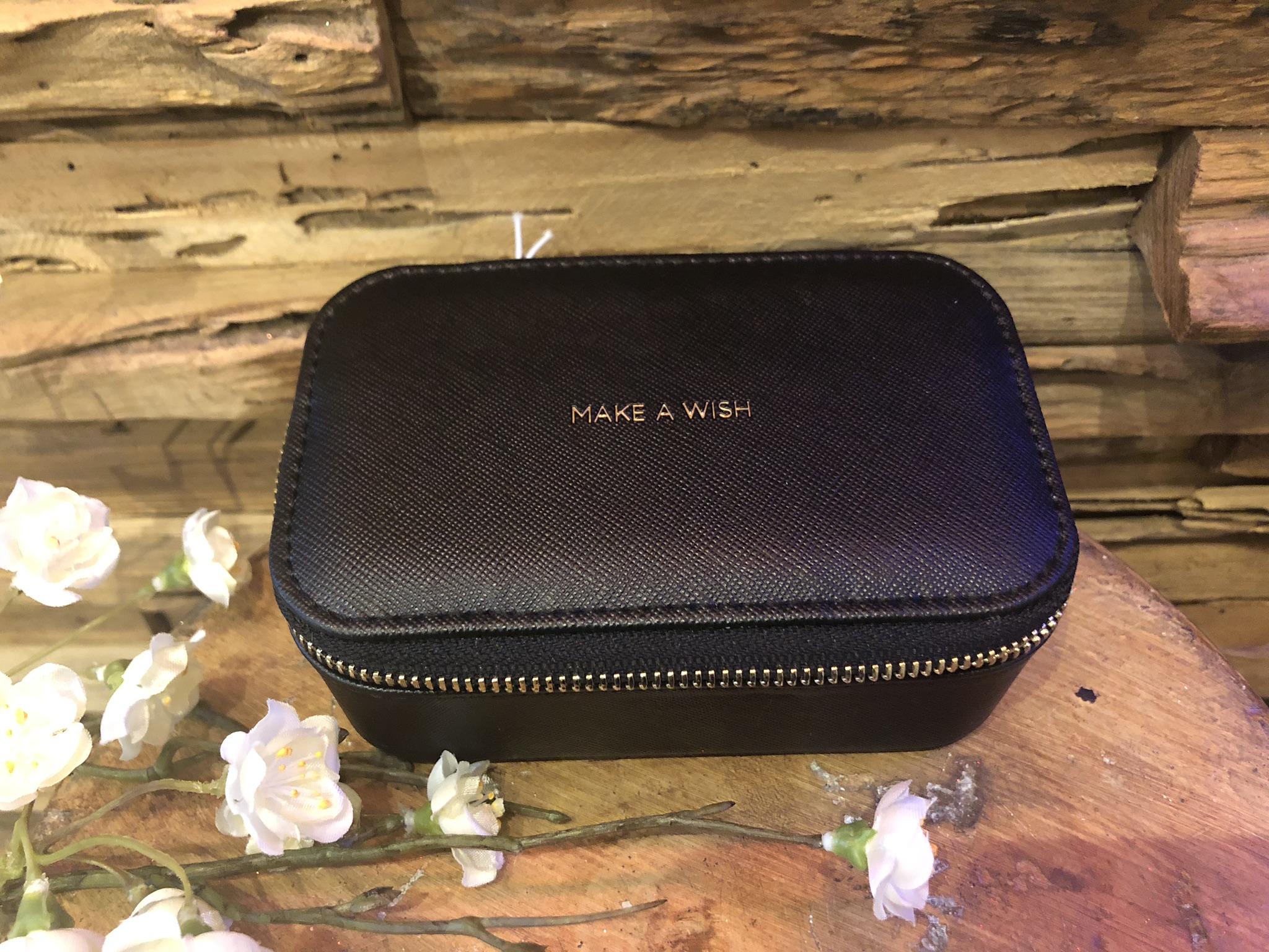 Black Make A A Wish Travel Jewellery Box