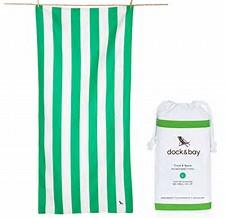 dock and bay green microfibe towel - Green Microfibe Towel by Dock & Bay
