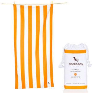 dock and bay orange microfibe towel 300x300 - Orange Microfibe Towel by Dock & Bay