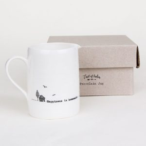 east of india jug lifestyle happiness is homemade 300x300 - Happiness is Homemade Boxed Small Porcelain Boxed Jug by East of India