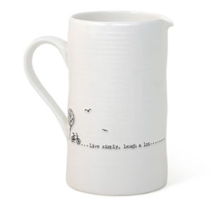 east of india jug live simply laugh a lot 300x300 - Live Simply Laugh a Lot Large Porcelain Boxed Jug by East of India