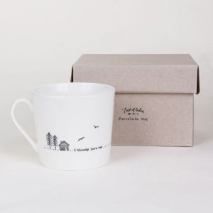 east of india mug lifestyle bloody love tea 300x300 - I Bloody Love Tea Wobbly Porcelain Boxed Mug by East of India