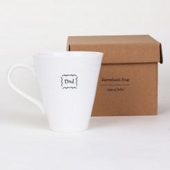 east of india mug lifestyle dad - Dad Boxed Porcelain Boxed Mug by East of India
