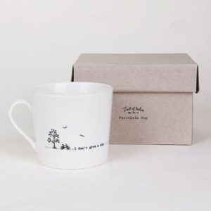 east of india mug lifestyle dont give a sip 300x300 - I Don't Give A Sip! Wobbly Porcelain Boxed Mug by East of India