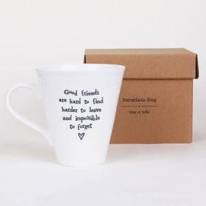 east of india mug lifestyle good friends 300x300 - Good Friends Boxed Porcelain Boxed Mug by East of India