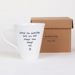 east of india mug lifestyle loved you yesterday - Loved You Yesterday Porcelain Boxed Mug by East of India