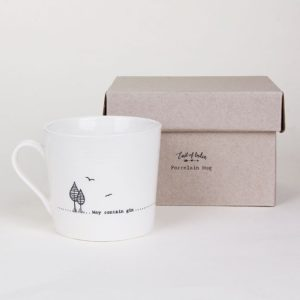 east of india mug lifestyle may contain gin 300x300 - May Contain Gin Wobbly Porcelain Boxed Mug by East of India