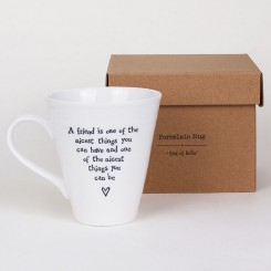 east of india mug lifestyle nicest things - A Friend is One of the Nicest Things Porcelain Boxed Mug by East of India