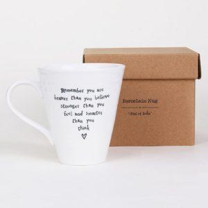 east of india mug lifestyle you are braver 300x300 - You Are Braver Porcelain Boxed Mug by East of India