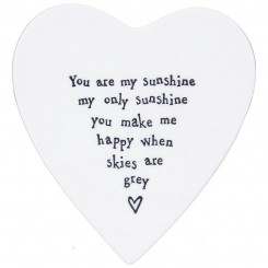 east of india you are my sunshine coaster - You Are My Sunshine Porcelain Coaster by East of India