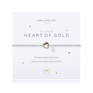 joma jewellery a little heart of gold silver bracelet 300x300 - A Little Heart of Gold Silver Bracelet  by Joma Jewellery