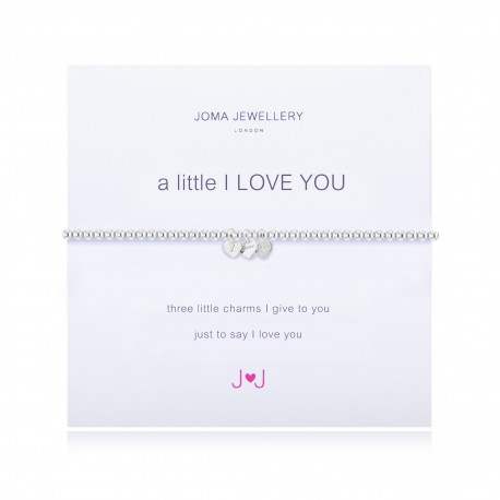 joma jewellery a little i love you silver bracelet - A Little I Love You Bracelet by Joma Jewellery