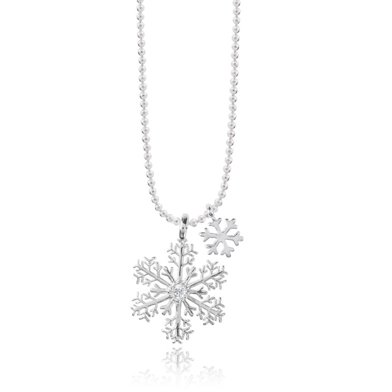 cz set az necklace earrings snowflake sterling jewelry winter hsh silver bling