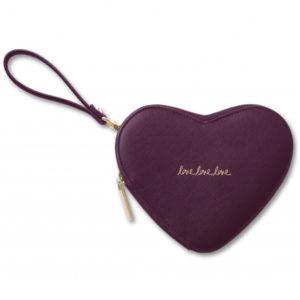 katie loxton love heart pouch burgundy 300x300 - Love Heart Perfect Burgundy Pouch by Katie Loxton