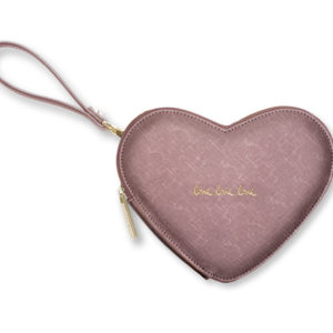 katie loxton love heart pouch rose pewter 300x300 - Love Heart Rose Pewter Pouch by Katie Loxton