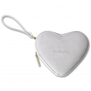 katie loxton love heart pouch silver 300x300 - Love Heart Perfect Silver Pouch by Katie Loxton