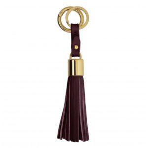 katie loxton tassel keyring burgundy 300x300 - Tassel Burgundy Keyring or Bag Charm by Katie Loxton