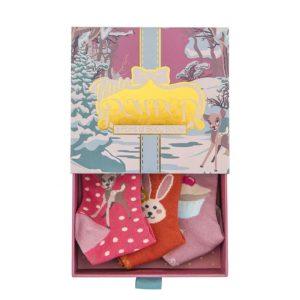 powder design bambi baby girl socks gift box 3 pairs 300x300 - Bambi Baby Girl Socks Gift Box 3 Pairs Multi by Powder Design