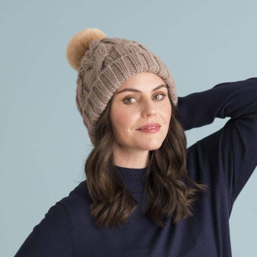 powder design charlotte hat camel propped 510x510 - Charlotte Hat Camel by Powder Design
