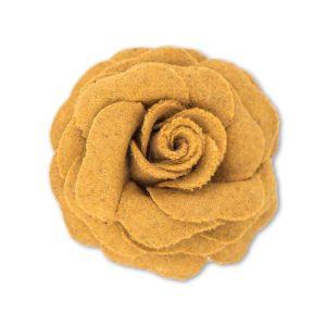 powder design rose brooch mustard 300x300 - Rose Brooch Mustard by Powder Design