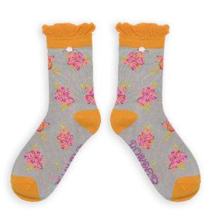 powder design rosebud ankle socks grey 300x300 - Rosebud Ankle Socks Grey by Powder Design