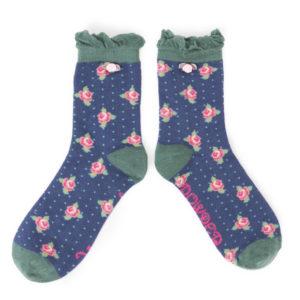 powder design rosebud ankle socks navy 300x300 - Rosebud Ankle Socks Navy by Powder Design