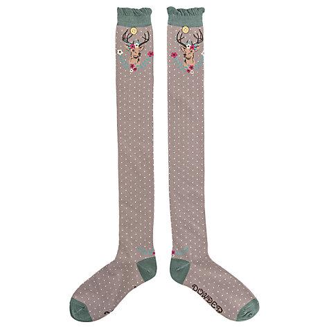 powder slate stag design long socks - Slate Stag Design Long Socks by Powder