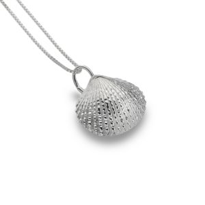 pure origins handcrafted sterling silver cockle shell pendant 300x300 - Solid Silver Cockle Shell Pendant by Pure Origins